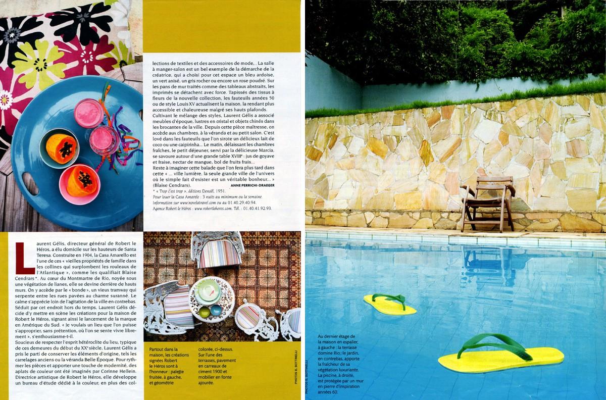 Casa Amarelo - Robert Le Héros - Presse - Madame Figaro - 2